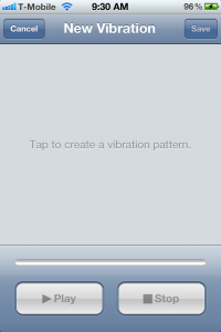Custom Vibrations iOS 5