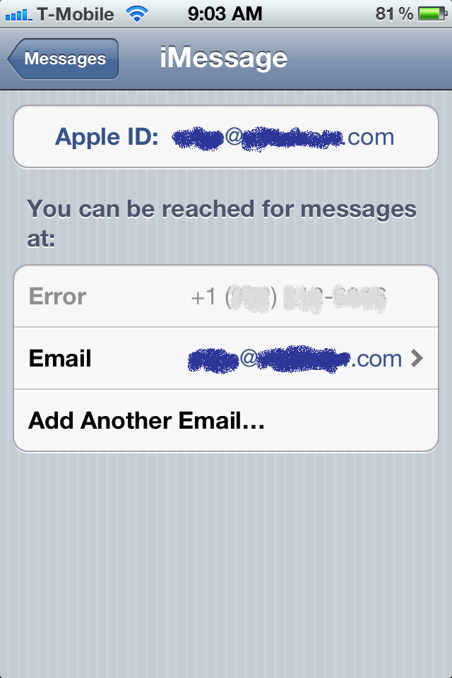 Imessage iphone 5 waiting for activation