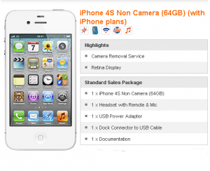 iPhone 4S M1 non Camera 64GB