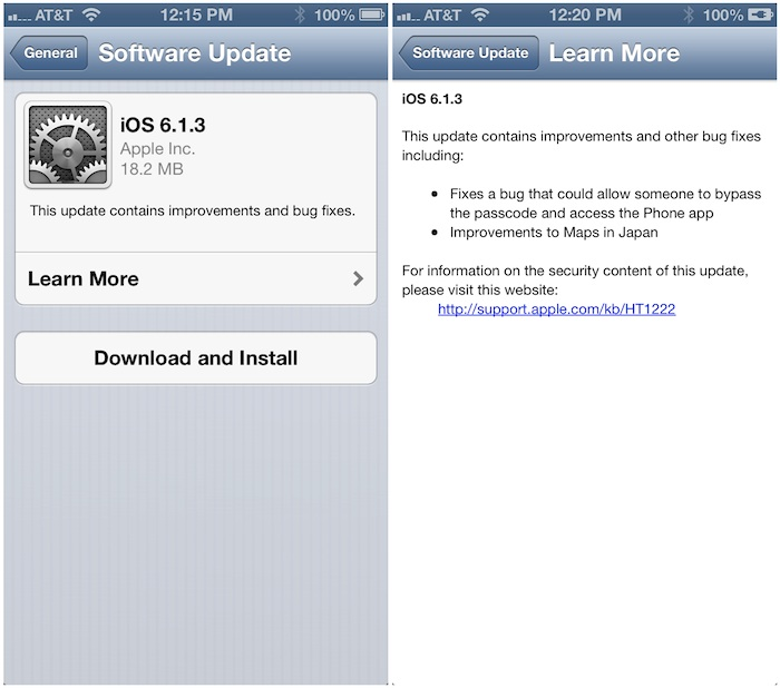 ios 6 1 3 is now available jailbreakers should stay far away