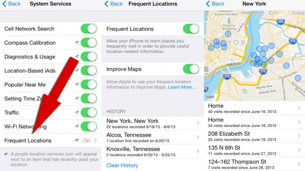 ios 7 tracking you via gps