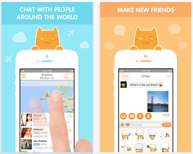 chat with people all over the world