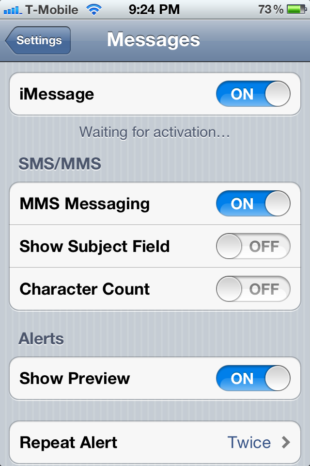 iphone imessage waiting for activation imessage waiting for activation 17659